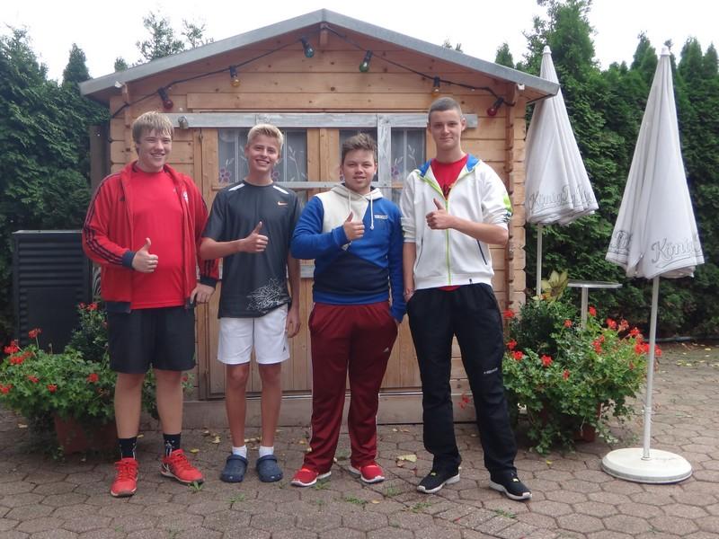1. Junioren U18: Yannick Nolte, Nils Watenphul, Erik Schumann, Robin Börger