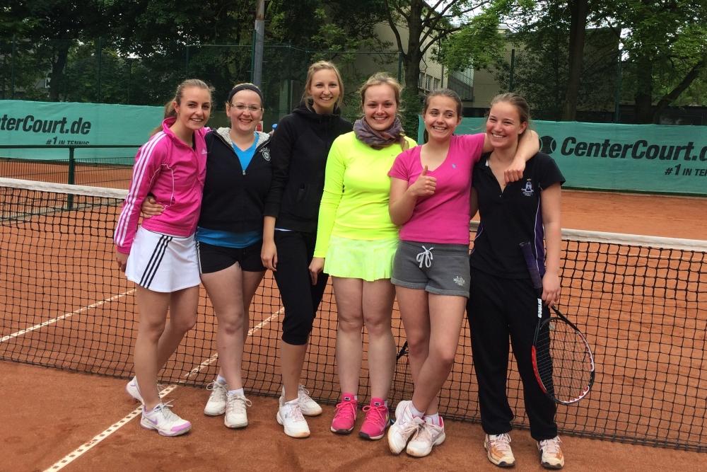 Die trotz Niederlage immer gut gelaunte 4. Damen-Mannschaft