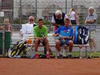 Nils Watenphul + Robin Boerger mit Trainer Peter Szöke