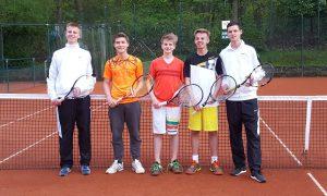 1. Jungen U18: Nils Watenphul, Sebastian Reiche, Finn de Lede, Lars Watenphul, Robin Börger