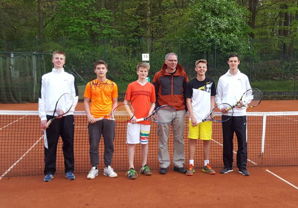 1. Jungen U18: Nils Watenphul, Sebastian Reiche, Finn de Lede, Frank de Lede (Mannschaftsführer),Lars Watenphul, Robin Börger